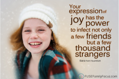 Your expression of joy